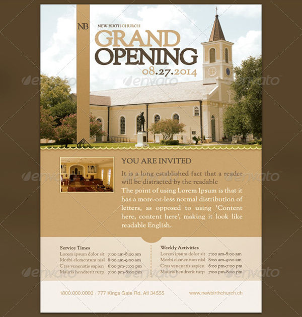 grand church opening invitation flyer