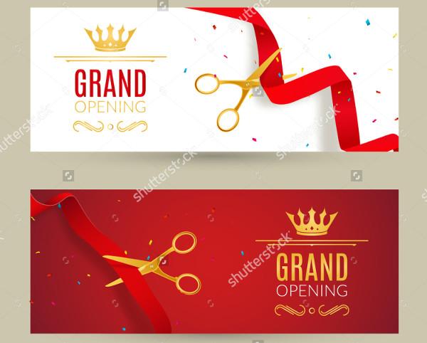 grand opening horizontal banner invitation