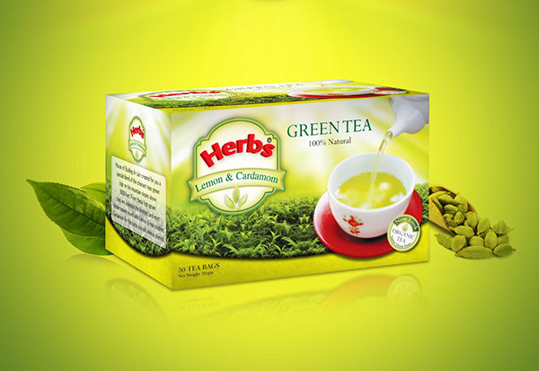green tea packaging design