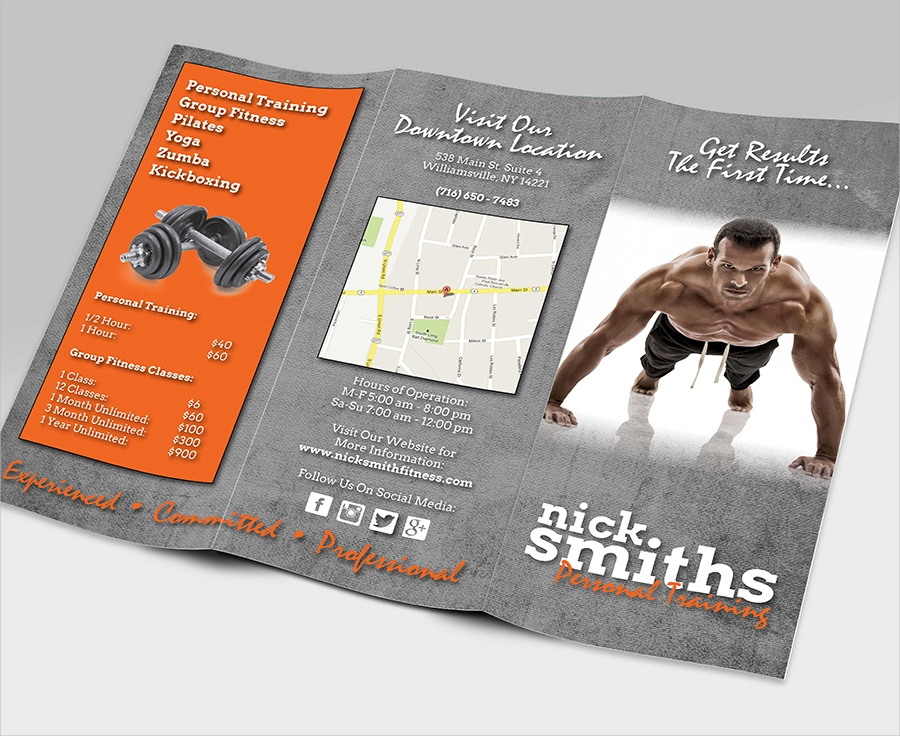 9 gym brochures free psd png vector eps format download for Gym brochure template