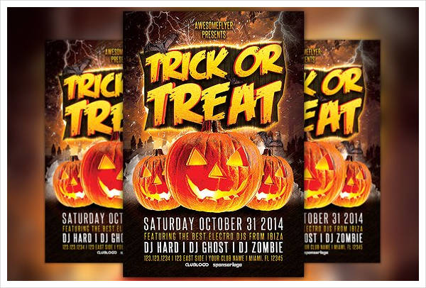 halloween party invitation flyer1