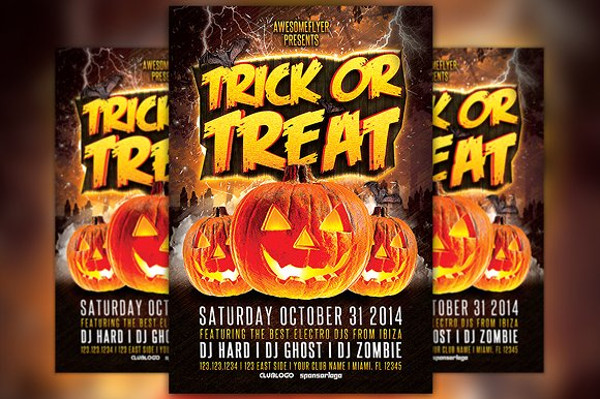 halloween party invitation flyer2