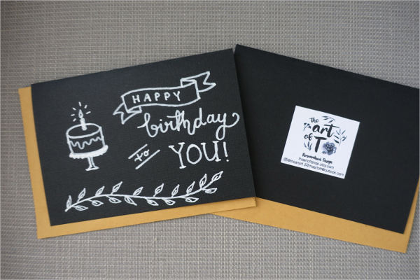 hand drawn birthday greeting card