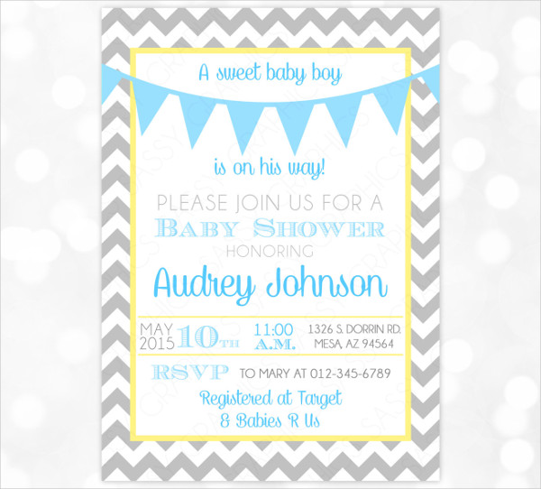 handmade baby shower invitation banner1