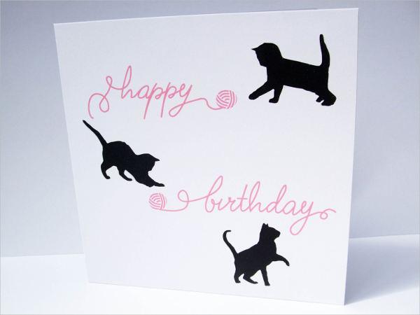 handmade cat greeting card