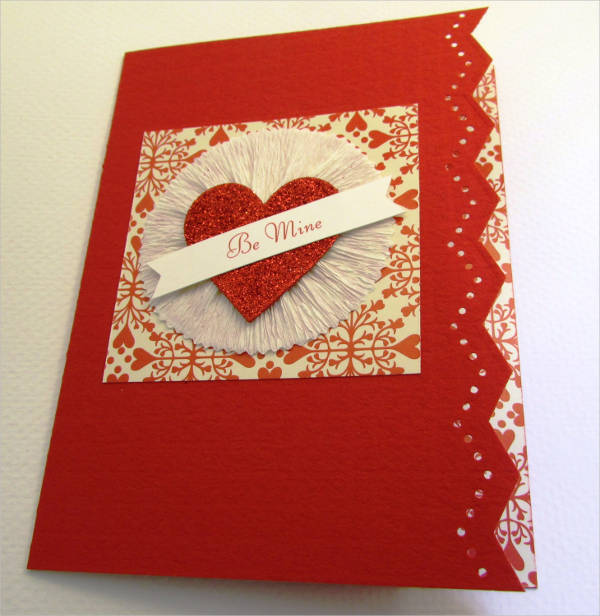 handmade valentines day greeting card
