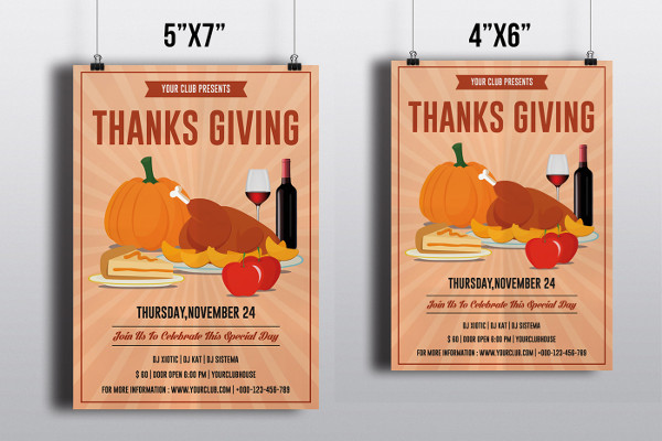happy thanks giving flyer