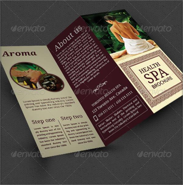 health spa brochure