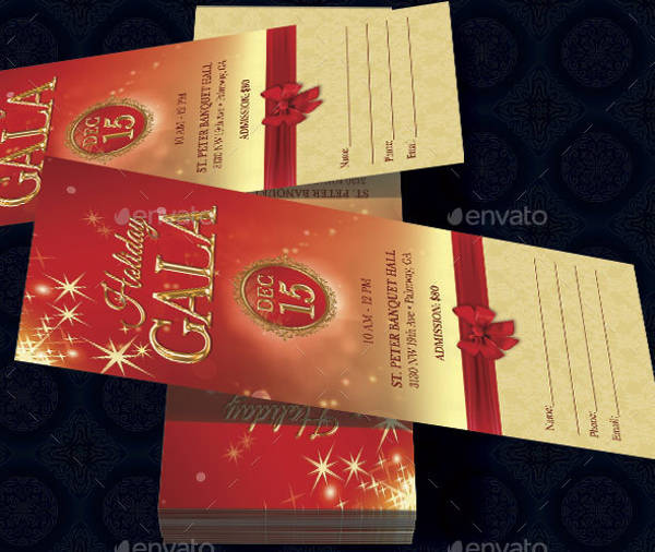 Christmas Party Ticket Template Free: 70 Ticket Templates