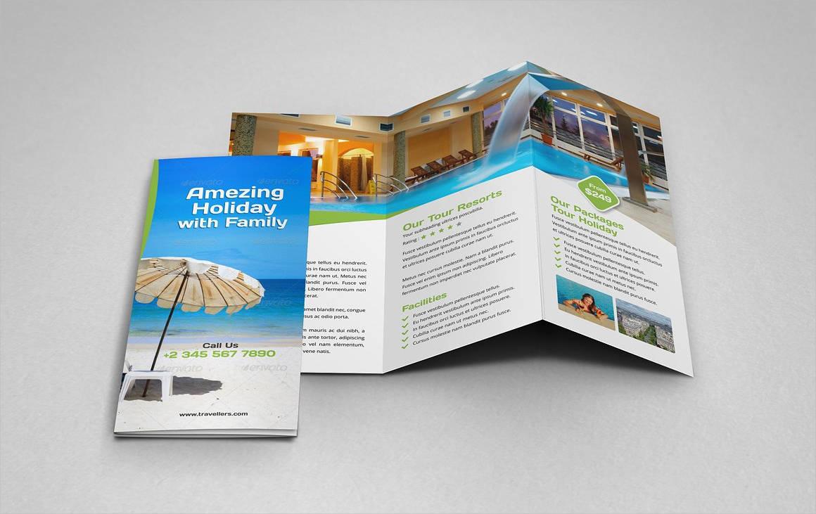 holiday tri fold brochure