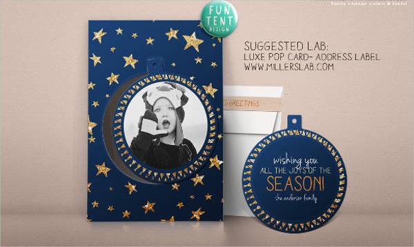 holiday wishing joy postcard template