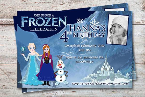 ice princess party invitation
