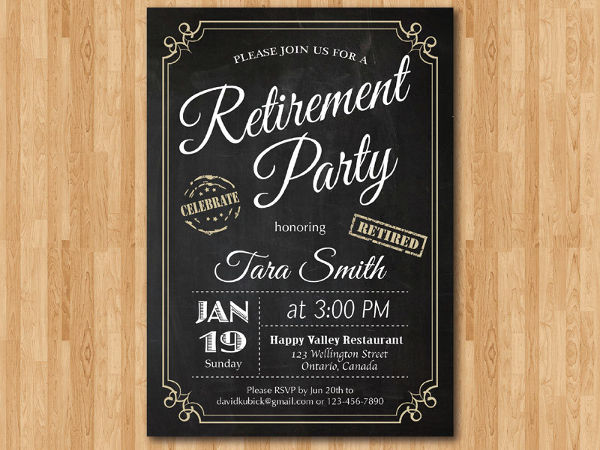 invitation for office retirement party