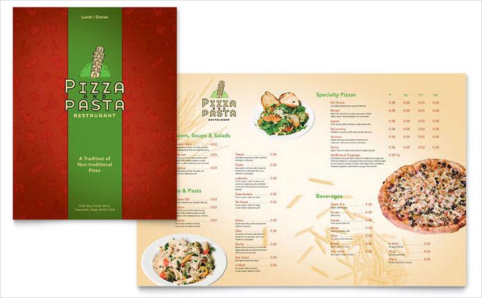 italian restaurant brochure