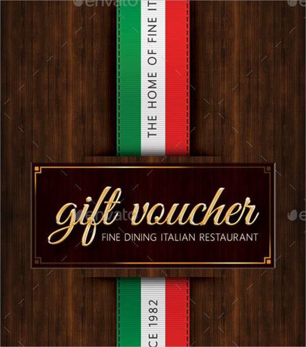 italian restaurant gift voucher
