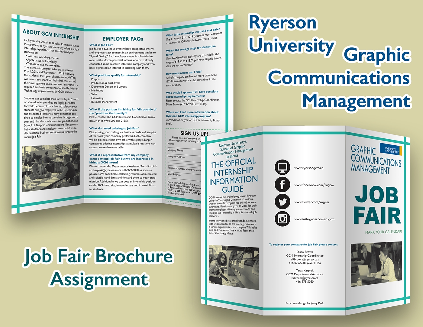 6 job brochures career in tlc career fair for early for Job fair brochure template