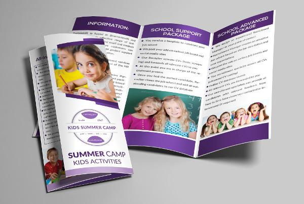 junior school tri fold brochure