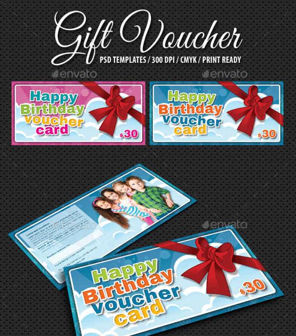kids birthday gift voucher