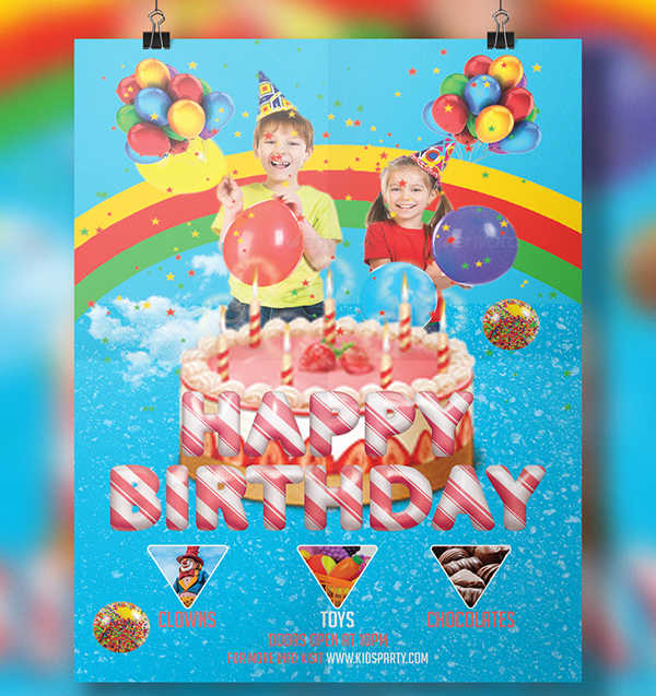 kids birthday invitation flyer1