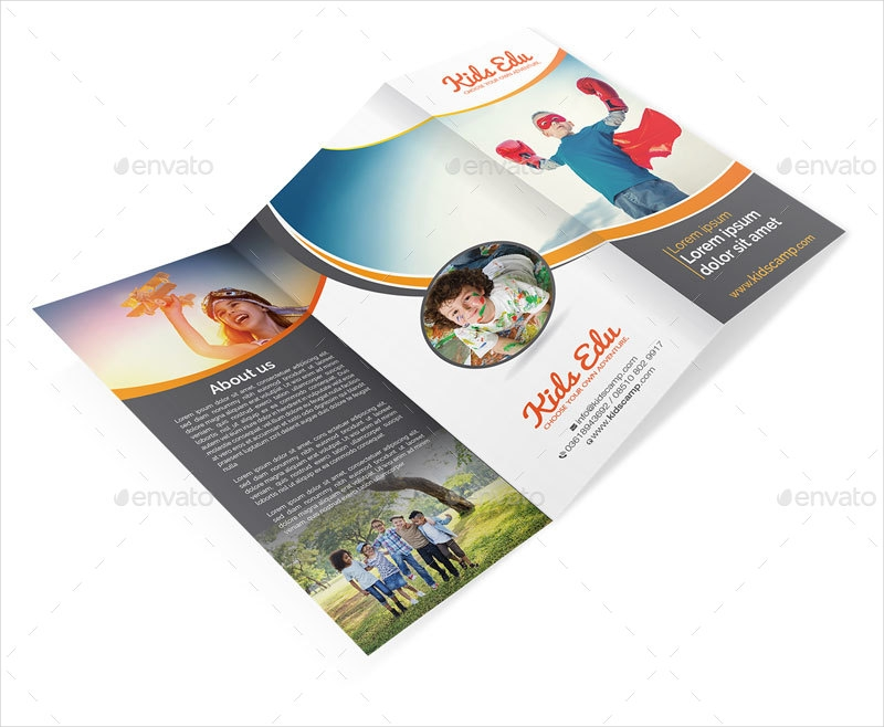 kids camp education brochure
