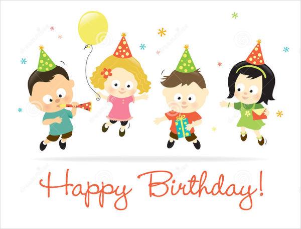 kids happy birthday card