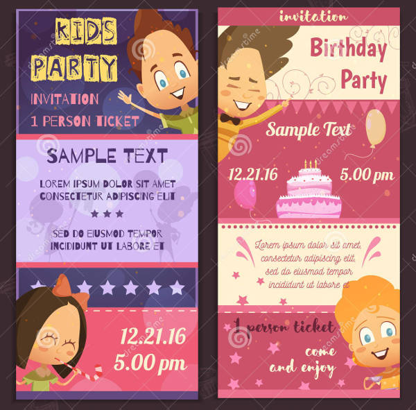 kids party invitation banner