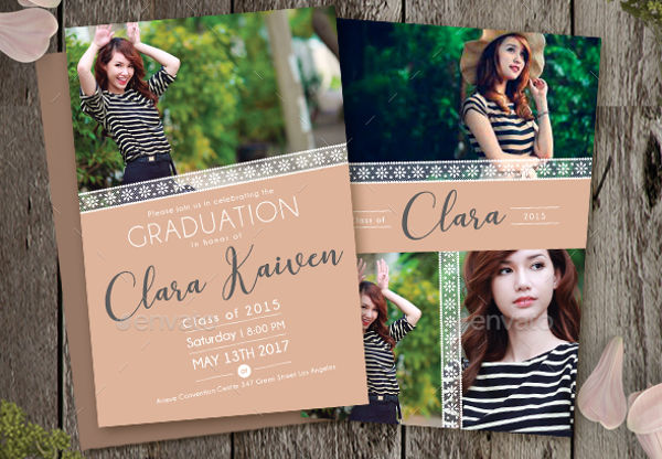 lace graduation invitation
