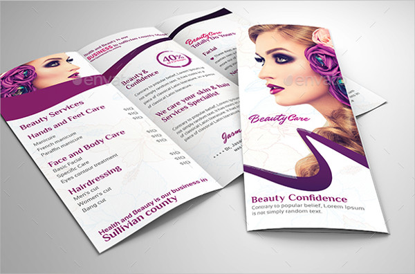 ladies salon service brochure