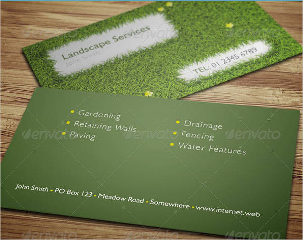 landscape garden business card