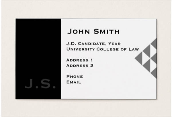 law student business card