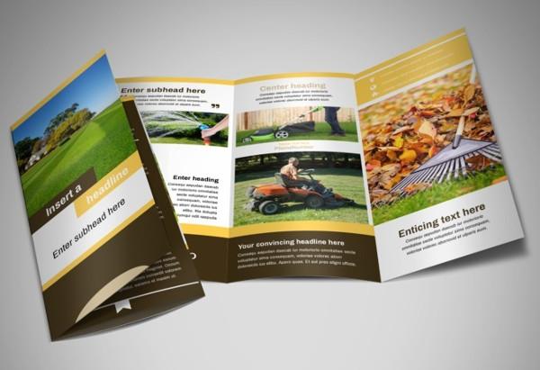 lawn service tri fold brochure