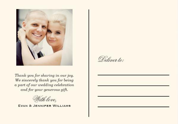 love and thanks wedding postcard template1