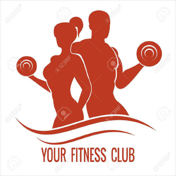 man and woman fitness logo