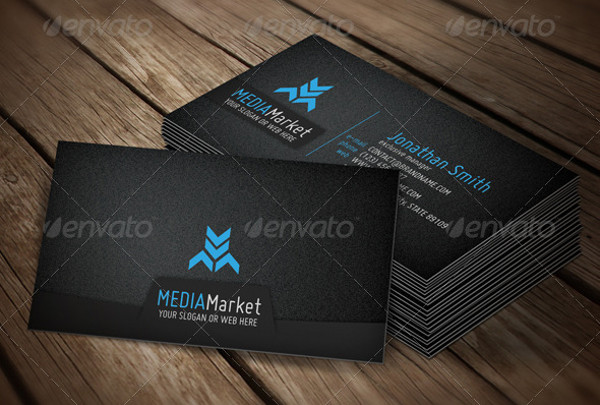 marketing business card with logo