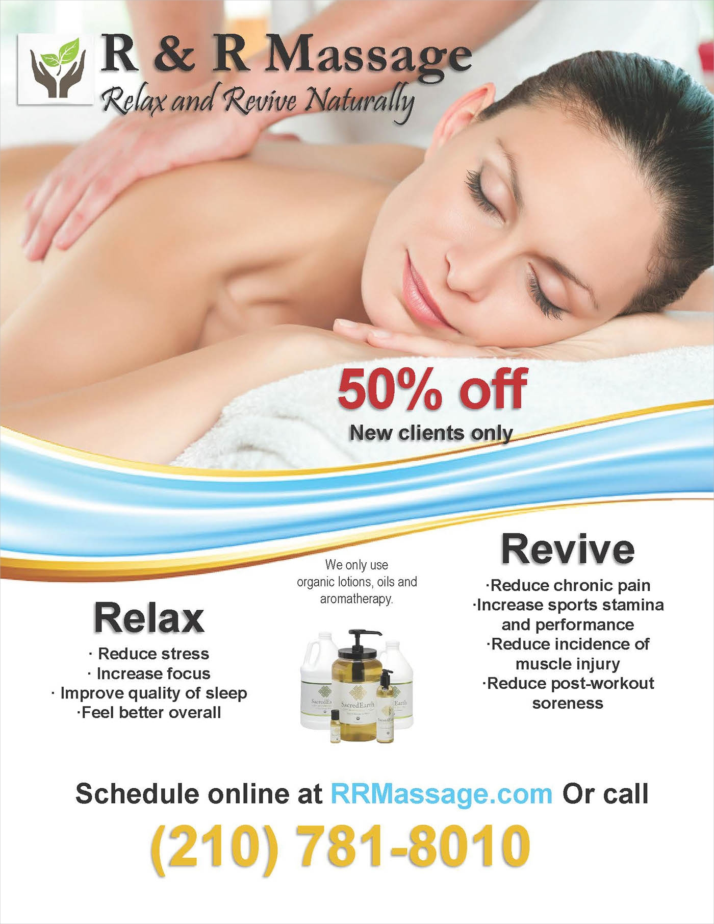 massage therapy advertising flyer