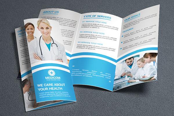 medical tri fold advertising brochure