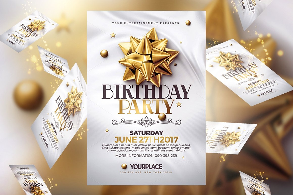Invitation Flyer Templates - Birthday party invitation flyer template