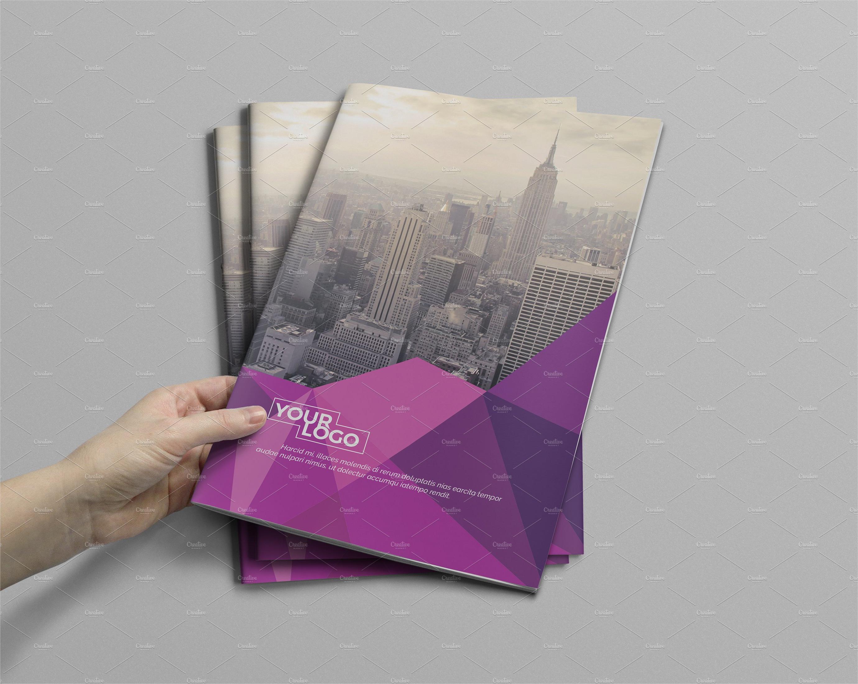 modern a4 corporate brochure template