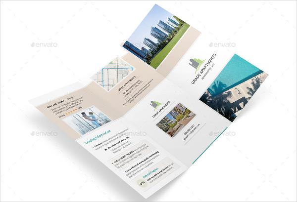 modern apartment psd brochure