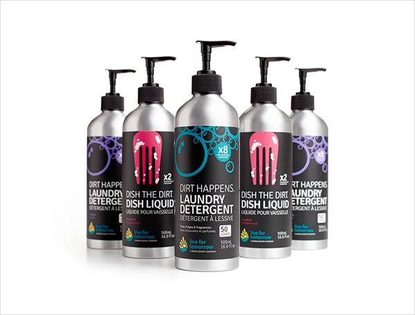 modern cleaning product packaging