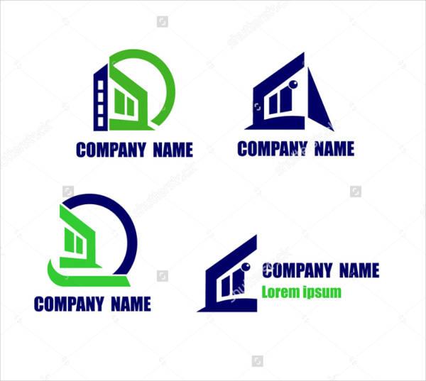 modern construction company logo