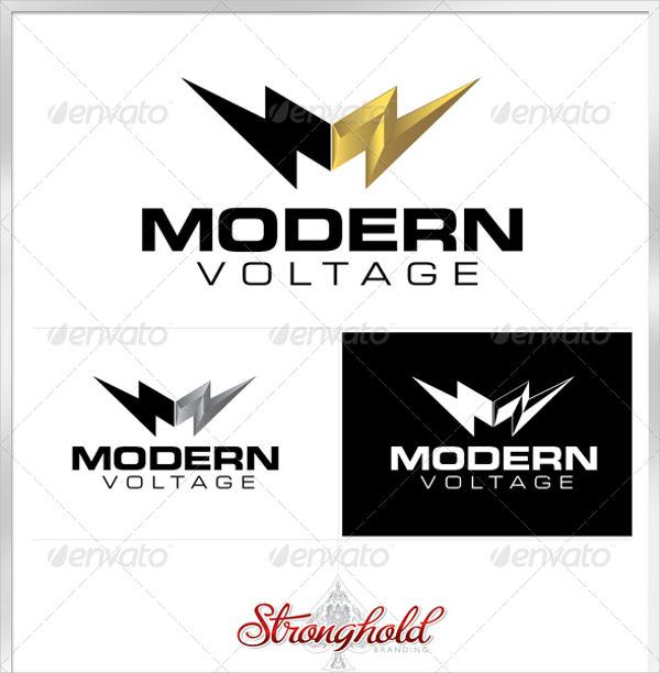 modern electrical logo template