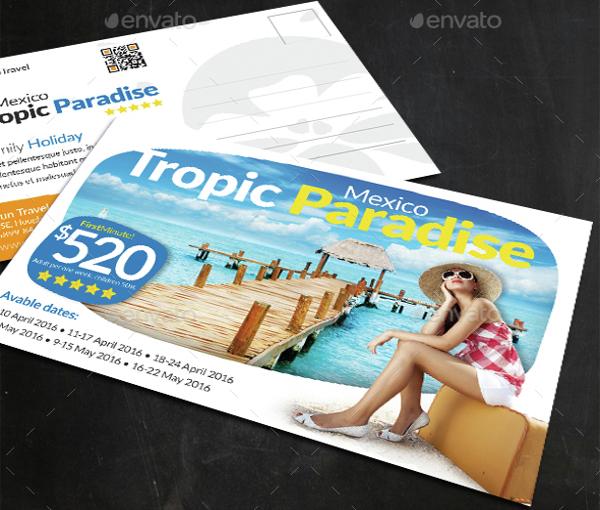 modern holiday postcard template1