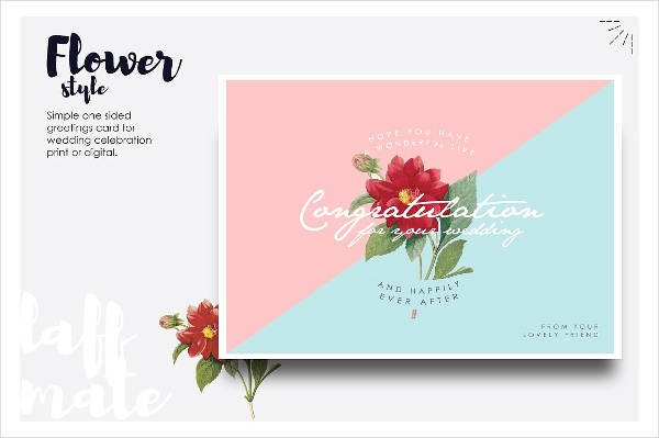 modern wedding greeting card