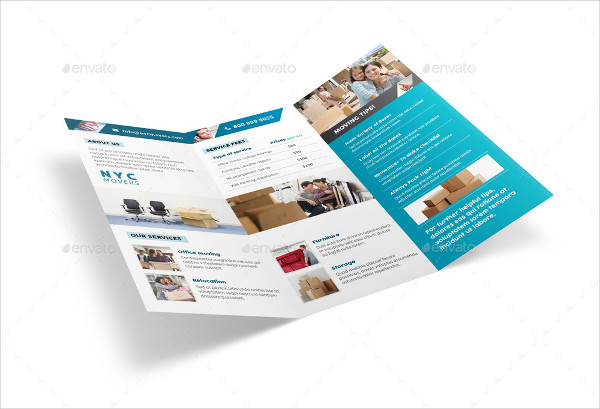 moving service tri fold brochure