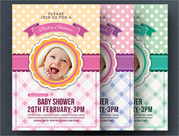 baby shower invitation flyers