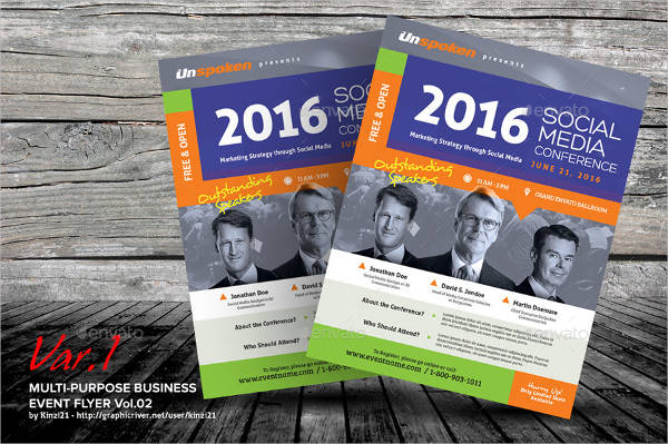 multi purpose business event flyer