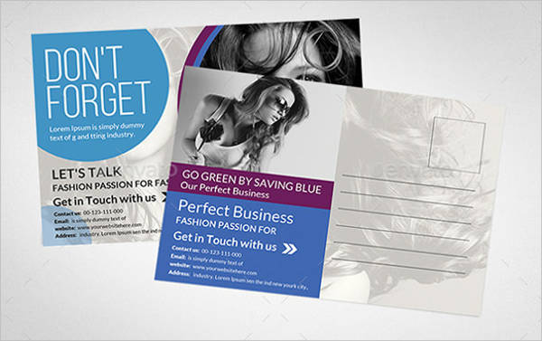 multipurpose business postcard template