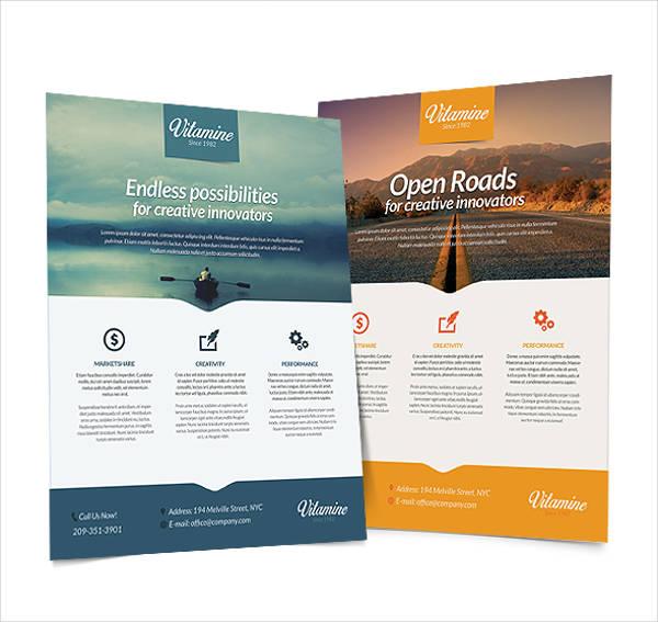 multipurpose construction business flyer