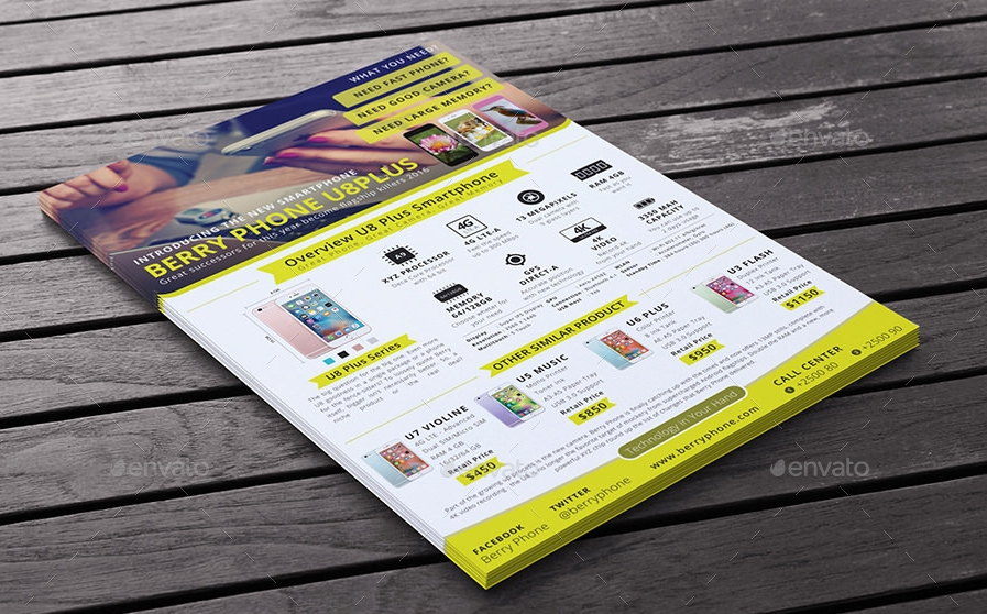 multipurpose product advertising flyer